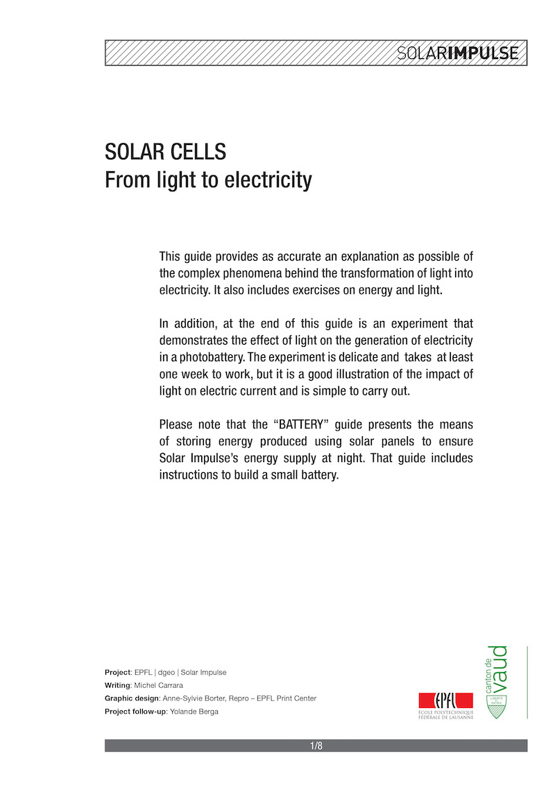 Workbooks solar energy worksheets for kids : Solar Impulse - Around the World to Promote Clean Technologies